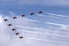 Κόκκινη ομάδα επίδειξης αέρα βελών Στοκ εικόνες με δικαίωμα ελεύθερης χρήσης