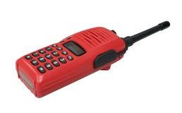 κόκκινη ομιλούσα ταινία walkie στοκ εικόνα με δικαίωμα ελεύθερης χρήσης