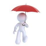 κόκκινη ομπρέλα Ελεύθερη απεικόνιση δικαιώματος