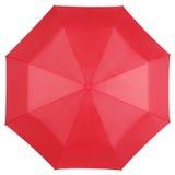 Κόκκινη ομπρέλα που απομονώνεται στην άσπρη, τοπ άποψη Στοκ εικόνα με δικαίωμα ελεύθερης χρήσης