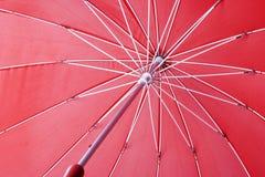 Κόκκινη ομπρέλα Στοκ Φωτογραφίες