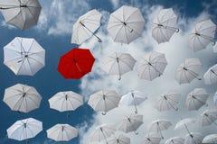 κόκκινη ομπρέλα Στοκ φωτογραφία με δικαίωμα ελεύθερης χρήσης