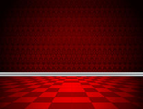 Κόκκινη πάτωμα, ταπετσαρία και σχηματοποίηση Στοκ φωτογραφία με δικαίωμα ελεύθερης χρήσης