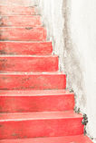 κόκκινη πέτρα βημάτων Στοκ Φωτογραφία