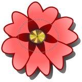 Κόκκινη παπαρούνα ή briar στο άσπρο υπόβαθρο ελεύθερη απεικόνιση δικαιώματος