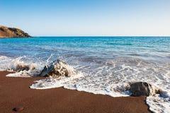 Κόκκινη παραλία στο νησί Santorini, Ελλάδα Στοκ εικόνες με δικαίωμα ελεύθερης χρήσης