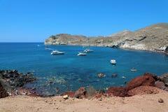 Κόκκινη παραλία, Santorini, νησιά Cycladic, Ελλάδα Όμορφο καλοκαίρι στοκ εικόνα