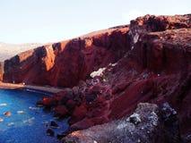 Κόκκινη παραλία, Santorini στοκ φωτογραφίες με δικαίωμα ελεύθερης χρήσης