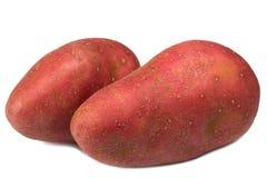 Κόκκινη πατάτα με το άσπρο υπόβαθρο Στοκ Εικόνες