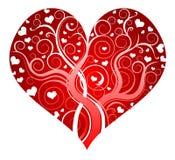 Κόκκινη περίκομψη καρδιά Στοκ Εικόνα