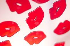 Κόκκινη περίληψη χειλικού κραγιόν Στοκ Εικόνες