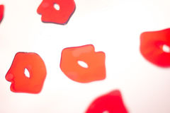 Κόκκινη περίληψη χειλικού κραγιόν Στοκ Εικόνα