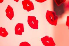 Κόκκινη περίληψη χειλικού κραγιόν Στοκ Φωτογραφίες