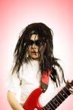 κόκκινη περούκα κιθάρων α&gam Στοκ Εικόνες