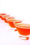 Κόκκινη πορτοκαλιά διαγώνια κατακόρυφος ζελατίνας Στοκ Εικόνα