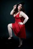 κόκκινη προκλητική γυναί&kappa Στοκ εικόνες με δικαίωμα ελεύθερης χρήσης