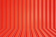 Κόκκινη πόρτα κυλίνδρων ασφάλειας μετάλλων Στοκ εικόνα με δικαίωμα ελεύθερης χρήσης