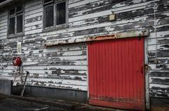 Κόκκινη πόρτα, παλαιός πυροσβεστικός σταθμός στον Ουέλλινγκτον Στοκ Εικόνα
