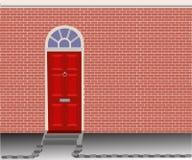 Κόκκινη πόρτα Στοκ Εικόνες