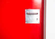Κόκκινη πόρτα Στοκ εικόνες με δικαίωμα ελεύθερης χρήσης