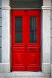 Κόκκινη πόρτα Στοκ φωτογραφίες με δικαίωμα ελεύθερης χρήσης