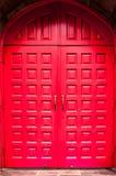 Κόκκινη πόρτα Στοκ Φωτογραφία