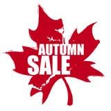Κόκκινη πώληση φθινοπώρου σφραγιδών απεικόνιση αποθεμάτων