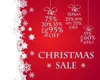 Κόκκινη πώληση Χριστουγέννων χιονιού Στοκ Εικόνες