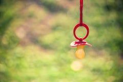 Κόκκινη πλαστική θηλή Στοκ εικόνα με δικαίωμα ελεύθερης χρήσης
