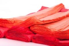 Κόκκινη πλαστική τσάντα Στοκ Εικόνες