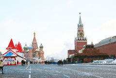 Κόκκινη πλατεία στη Μόσχα το χειμώνα Στοκ φωτογραφίες με δικαίωμα ελεύθερης χρήσης