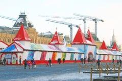 Κόκκινη πλατεία στη Μόσχα το χειμώνα Στοκ Φωτογραφίες