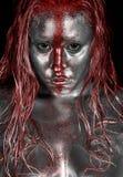 κόκκινη ράβδωση λευκόχρυ Στοκ Εικόνες