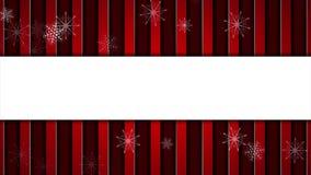 Κόκκινη ριγωτή αφηρημένη τηλεοπτική ζωτικότητα Χριστουγέννων απόθεμα βίντεο