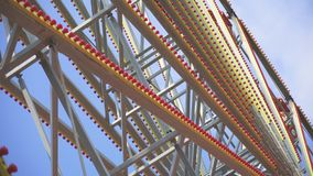 Κόκκινη ρόδα Ferris απόθεμα βίντεο