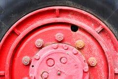 κόκκινη ρόδα truck στοκ φωτογραφία με δικαίωμα ελεύθερης χρήσης