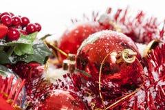 Κόκκινη ρύθμιση Χριστουγέννων Στοκ φωτογραφίες με δικαίωμα ελεύθερης χρήσης