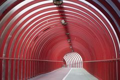 κόκκινη σήραγγα Στοκ Εικόνα