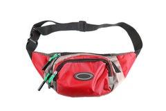 Κόκκινη σακούλα μέσης που απομονώνεται στο άσπρο υπόβαθρο στοκ φωτογραφία με δικαίωμα ελεύθερης χρήσης