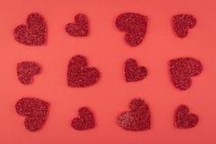 Κόκκινη σειρά αγάπης Στοκ φωτογραφία με δικαίωμα ελεύθερης χρήσης