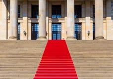 κόκκινη σκάλα εικόνας ταπήτων παραγμένη υπολογιστής στοκ φωτογραφία με δικαίωμα ελεύθερης χρήσης