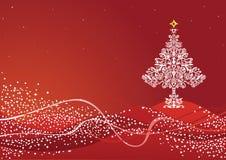κόκκινη σκηνή Χριστουγένν&omeg ελεύθερη απεικόνιση δικαιώματος