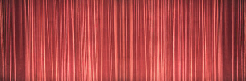 Κόκκινη σκηνική σύσταση κουρτινών Έννοια εικόνας θεάτρων Στοκ Εικόνες