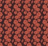 κόκκινη σκιαγραφία λουλουδιών πρότυπο άνευ ραφής διανυσματική απεικόνιση