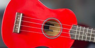 Κόκκινη σοπράνο Ukulele Στοκ φωτογραφία με δικαίωμα ελεύθερης χρήσης