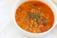 κόκκινη σούπα φακών Στοκ εικόνα με δικαίωμα ελεύθερης χρήσης
