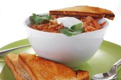κόκκινη σούπα ψωμιού Στοκ φωτογραφία με δικαίωμα ελεύθερης χρήσης