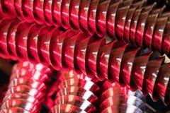 κόκκινη σπείρα μετάλλων Στοκ Εικόνα