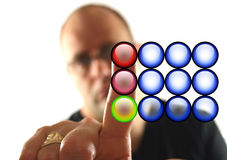 κόκκινη στάση κουμπιών Στοκ Εικόνες