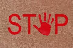 κόκκινη στάση σημαδιών Στοκ φωτογραφία με δικαίωμα ελεύθερης χρήσης